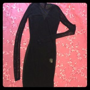 Junior Gaultier vintage mesh black dress